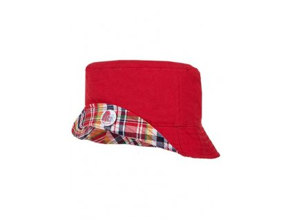 Dětský bavlněný oboustranný klobouček Maximo červený