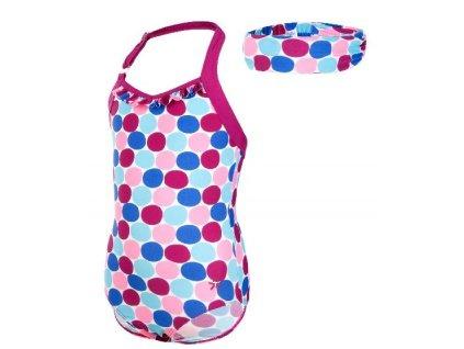 Kvalitní dětské rychleschnoucí jednodílné plavky s UV ochranou Vlaire Color Kids UPF 40+