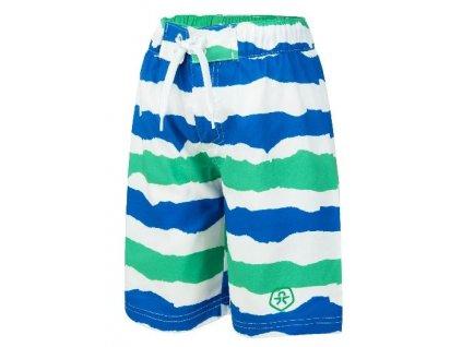 Kvalitní chlapecké rychleschnoucí šortkové plavky s UV ochranou Veleo Color Kids zeleno-modré