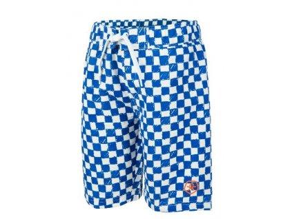 Chlapecké plavky Veleo Color Kids modro-bílá kostka