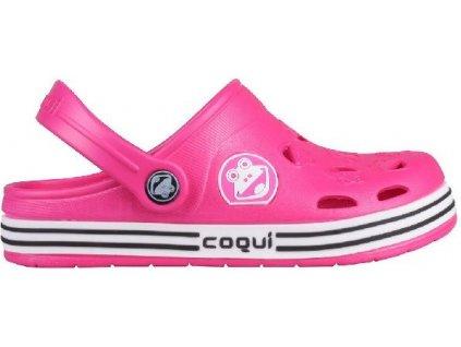 Dětské sandály Coqui Froggy růžové
