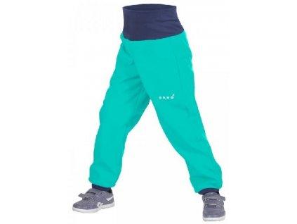 Unuo dětské softshellové kalhoty Evžen smaragdové