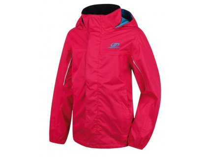 Kvalitní dětská nepromokavá jarní bunda s kapucí a reflexními prvky Hannah Supply JR v růžové barvě