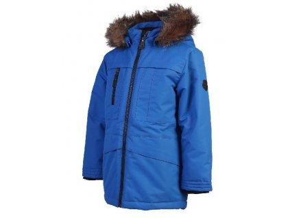 Kvalitní dětská zimní a větruodolná parka s odnímatelnou kapucí a reflexními prvky Color Kids Kalata parka Princess blue v modré barvě