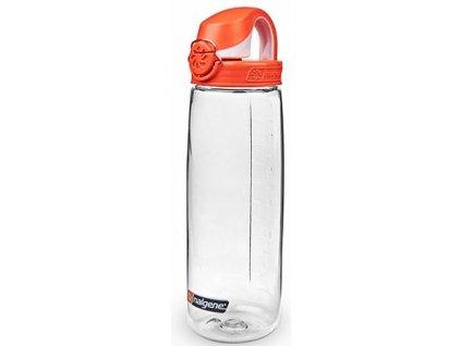 Kvalitní dětská plastová láhev bez BPA Nalgene OTF 650 ml čirá - oranžové víčko, čirá/oranžové víčko