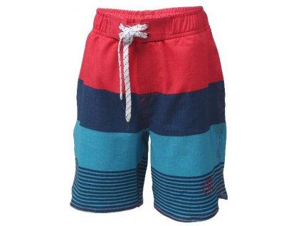 Kvalitní chlapecké rychleschnoucí šortkové plavky s UV ochranou Nelta - Coral red