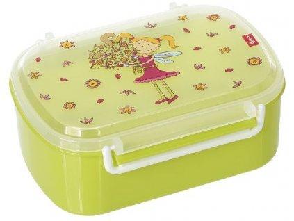 Kvalitní dětská krabička na svačinu s druhou odjímatelnou krabičkou na ovoce Sigikid Florentine v zelené barvě