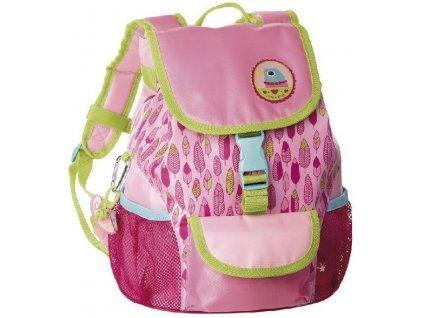 Kvalitní nylonový, komfortní a propracovaný dětský batoh pro školáky Sigikid Finky Pinky v růžové barvě