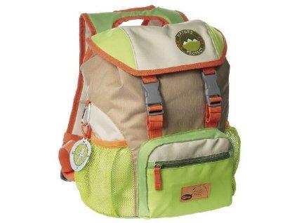 Kvalitní nylonový, komfortní a propracovaný dětský batoh pro školáky Sigikid Forest Grizzly XL v hnědé barvě