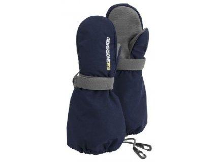 Kvalitní dětské zimní nepromokavé rukavice palčáky Didriksons Biggles v modré barvě