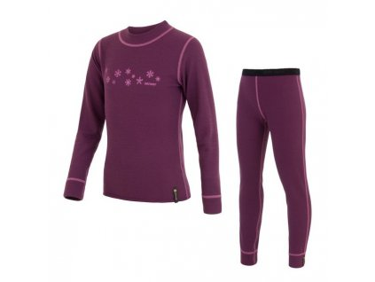 Kvalitní dětské teplé a příjemné funkční prádlo Sensor Double Face ve fialové barvě