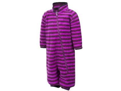Kvalitní dětský hřejivý fleecový overal Color Kids Rilion mini fleece suit Dark Purple ve fialové barvě