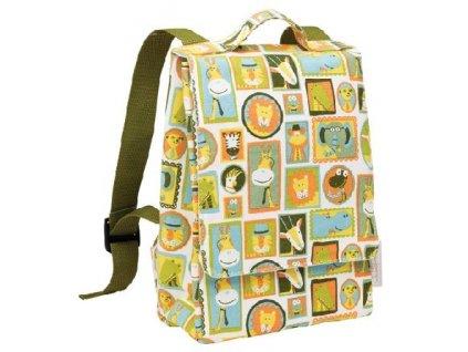 Kvalitní nylonový, komfortní a propracovaný dětský batoh pro předškoláky Sugarbooger Backpack It's a jungle v zelené barvě