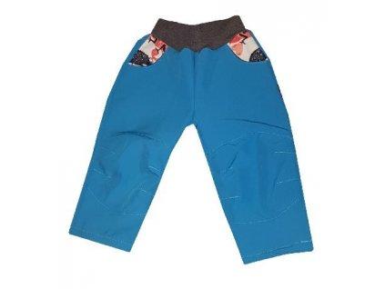 Softshellové kalhoty Kakadu tyrkysové - chameleon