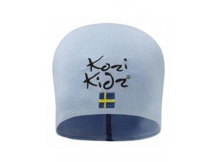 Bavlněná čepička Kozi Kidz světle modrá
