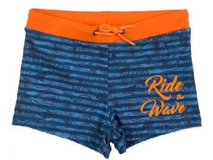 Kvalitní chlapecké rychleschnoucí šortkové plavky s UV ochranou Losan Ride the Wave modré