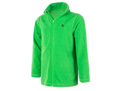 Color Kids Tembing fleece jacket - Toucan green