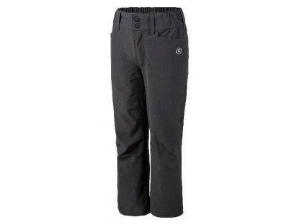 Kvalitní dětské lehké softshellové kalhoty s reflexními prvky Color Kids Tindall - Phantom v šedé barvě