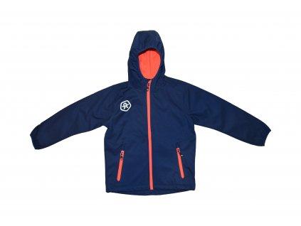 Kvalitní dětská prodyšná jarní softshellová bunda s kapucí a reflexními prvky Color Kids Barkin - Estate blue v modré barvě
