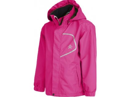 Kvalitní dětská nepromokavá bunda s membránou, kapucí a reflexními prvky Color Kids Callas - Bright rose v růžové barvě