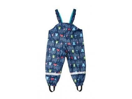 Kvalitní dětské nepromokavé kalhoty do deště s laclem Maximo v modré barvě