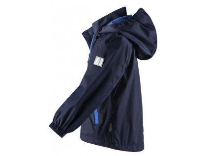 Kvalitní dětská nepromokavá bunda s membránou, kapucí a reflexními prvky Reima Zigzag - Navy v tmavě modré barvě