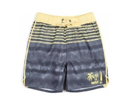 Kvalitní chlapecké rychleschnoucí šortkové plavky s UV ochranou Losan Surf šedé