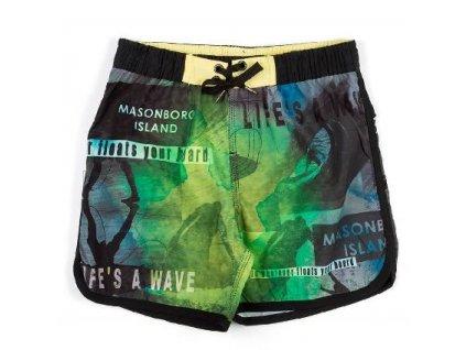 Kvalitní chlapecké rychleschnoucí šortkové plavky s UV ochranou Losan Wave zelené