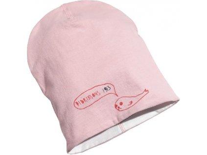 Kvalitní dětská oboustranná zimní čepice Didriksons Musslan v růžové barvě
