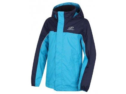 Kvalitní dětská nepromokavá jarní bunda s kapucí a reflexními prvky Hannah Supply JR peacoat / hawaiian ocean v modré barvě