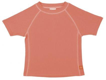 Kvalitní dětské UV tričko s krátkými rukávy a UPF 50+ Lassig Rashguard short sleeve girls Peach v broskvové barvě