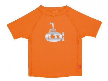 Kvalitní dětské UV tričko s krátkými rukávy a UPF 50+ Lassig Rashguard short sleeve boys Submarine v oranžové barvě