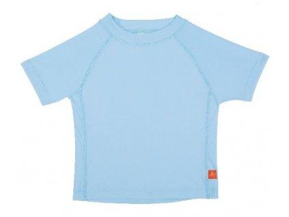 Kvalitní dětské UV tričko s krátkými rukávy a UPF 50+ Lassig Rashguard short sleeve boys Light blue ve světle modré barvě