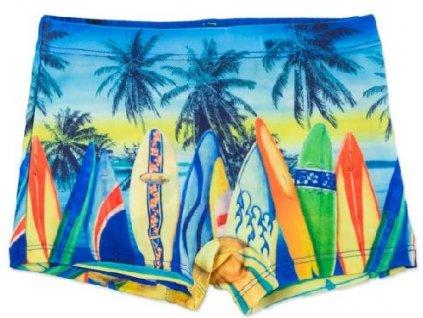 Chlapecké plavky Losan palmy oranžové