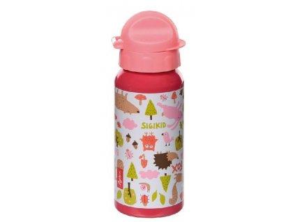 Kvalitní dětská láhev ze zdravotně nezávadného hliníku Sigikid Les Forest