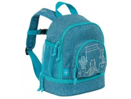 Kvalitní nylonový, komfortní a propracovaný dětský batoh pro předškoláky Mini Backpack About Friends blue v modré barvě
