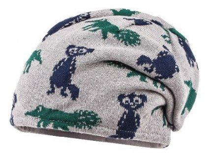 Kvalitní dětská zimní čepice Maximo surikata v šedé barvě