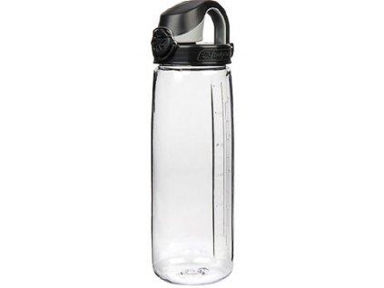 Kvalitní dětská plastová láhev bez BPA Nalgene OTF 650 ml čirá - černé víčko