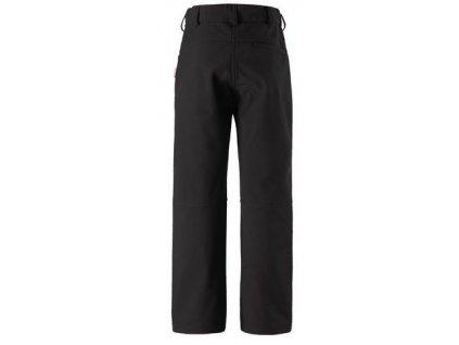 Kvalitní dětské lehké softshellové kalhoty s reflexními prvky Reima Mighty black v černé barvě
