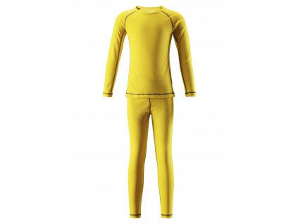 Kvalitní dětské teplé a příjemné funkční prádlo Reima Lani yellow ve žluté barvě