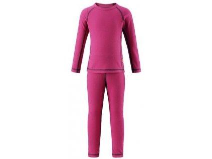 Kvalitní dětské teplé a příjemné funkční prádlo Reima Lani pink v růžové barvě