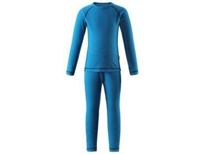 Kvalitní dětské teplé a příjemné funkční prádlo Reima Lani blue v modré barvě
