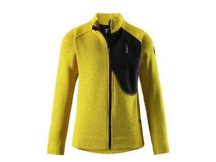Kvalitní dětská hřejivá jarní fleecová mikina Agosto yellow ve žluté barvě