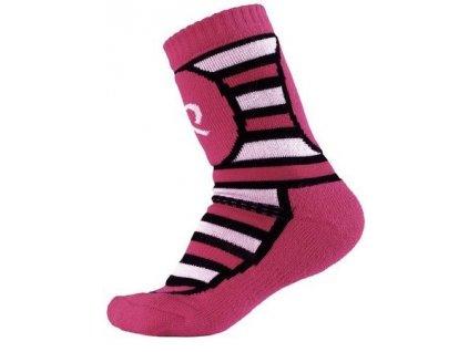 Kvalitní dětské vlněné zimní ponožky Reima Stork ve vínové barvě