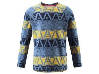 Kvalitní dětské teplé a příjemné funkční tričko s dlouhým rukávem a UV ochranou Reima Tiptoe Soft blue v modré barvě