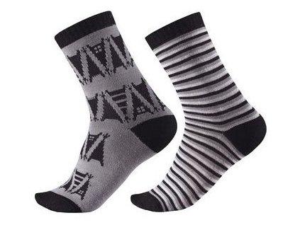 Kvalitní dětské vlněné zimní ponožky Reima Sturm v šedé barvě