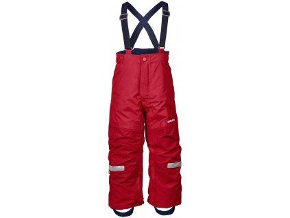 Kvalitní dětské zimní lyžařské kalhoty D1913 IDRE v červené barvě