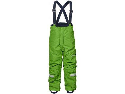 Kvalitní dětské zimní lyžařské kalhoty D1913 IDRE v zelené barvě