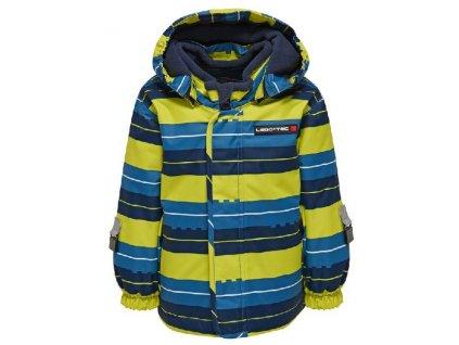 Kvalitní dětská zimní zateplená bunda s odnímatelnou kapucí a reflexními prvky LEGO® Wear Jaxon v modré barvě
