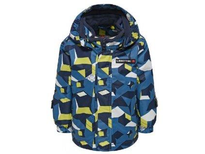 Kvalitní dětská zimní zateplená bunda s odnímatelnou kapucí a reflexními prvky LEGO® Wear Jaxon v tmavě modré barvě